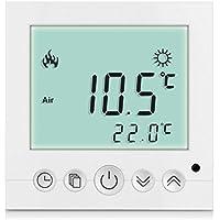 SM-PC®, Digital Thermostat Raumthermostat Fußbodenheizung Wandheizung LED weiß #a31