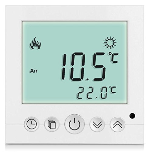 SM-PC®, Digital Thermostat Raumthermostat Fußbodenheizung Wandheizung LED weiß #a31