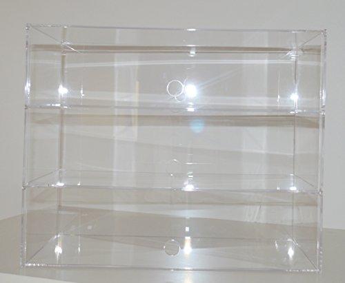 Waren Ständer / Standregal / Präsenter / Sammler / Tisch Vitrine / Spuckschutz / Bäckerei Verkaufstheke aus Acryl Glas Groß (3 Tier: 49 (B) x 40 (H) x 24 (T)) (Für Bäckerei Vitrine)