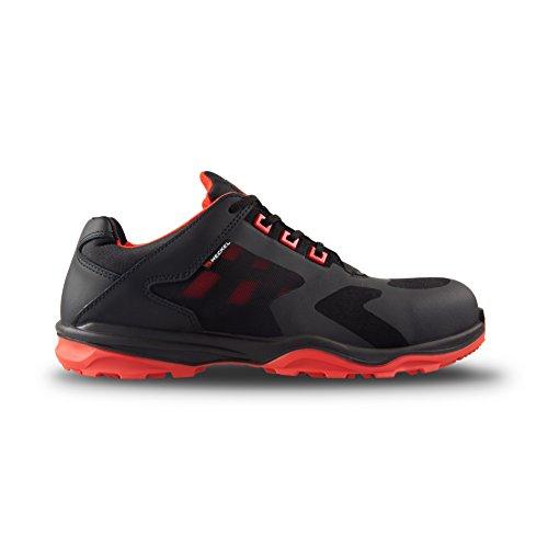 Heckel RUN R S1P SRC Super Leggera moderne scarpe antinfortunistiche da lavoro,-Metallo libero, (nero/arancione), 44 EU