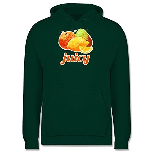 Statement Shirts - Juicy - Männer Premium Kapuzenpullover / Hoodie Dunkelgrün