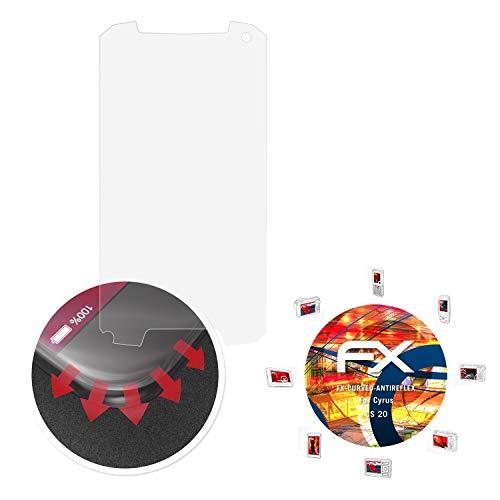 atFolix Schutzfolie passend für Cyrus CS 20 Folie, entspiegelnde & Flexible FX Bildschirmschutzfolie (3X)