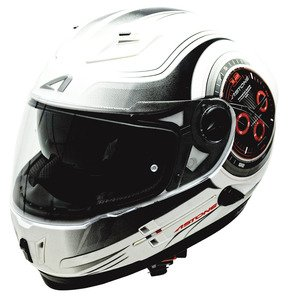 CASCO MOTO INTEGRAL ASTONE ROADSTAR GRAPHICS EXCLUSIVE CHRONOS WHITE