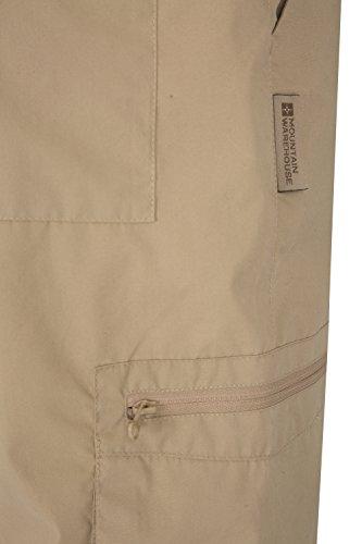 Mountain Warehouse Pantaloni da uomo Trek - Lunghezza alla caviglia. Tessuto leggero, pratici da riporre. 76 cm/30 pollici Beige scuro