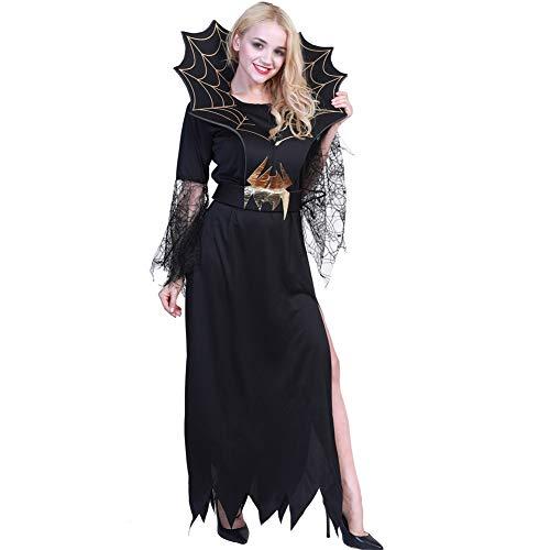 Mädchen Freaky Scary Clown Halloween Kostüm Spinne Hexe Vampir Halloween Kostüm Outfit (Size : M) (Scary Clown Halloween Kostüm)