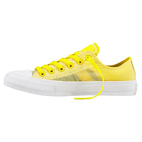 Converse Womens CT AS 2 Ox Sheen Mesh Mesh Trainers Giallo
