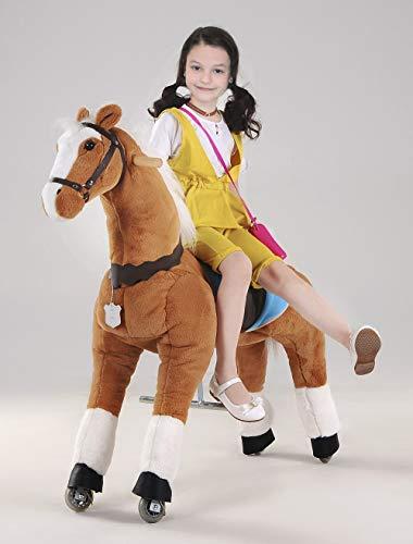 UFREE Action Pony, Caballo mecánico de Juguete de tamaño Grande, Montar, botar Arriba y Abajo, Altura 44''para niños de 6 años hasta Adultos (Unicornio Rosa)