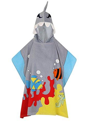 Nifty, Kinder Weich Neuheit Kapuzen Handtuch - Shark (Cover Hooded Up)