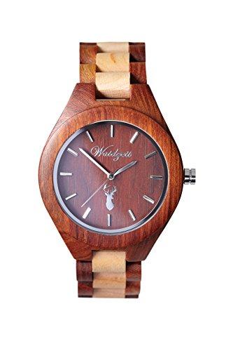 Waidzeit Unisex-Uhr Holz Platzhirsch AUERHAHN Armbanduhr AU02