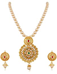 Apara Jalebi Design Kundan Necklace Set With Women
