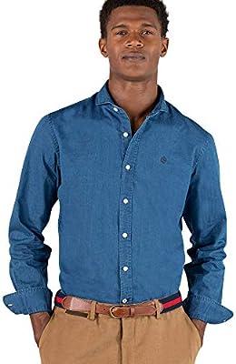 El Ganso Urban Iconic Camisa casual, Azul (Indigo 0022), arge para Hombre