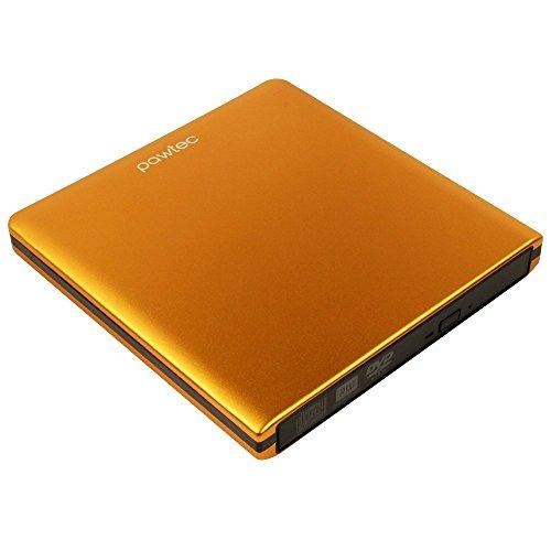 Pawtec Signature Externe USB 3.0Aluminium 8x DVD-RW Writer Optisches Laufwerk mit Lightscribe-Orange