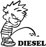 #8: Indiashopers Baby Diesel Sides, Windows Car Sticker (Black, White)