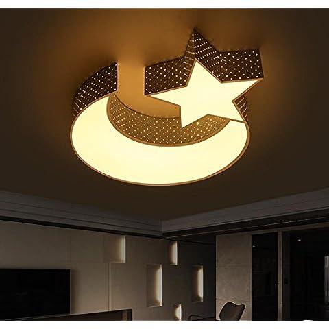 BBSLT Il Natale moderno, semplice, creativo, lampadari, lampade da camera, led, caldo (60cm) - Ash Tonalità Legno