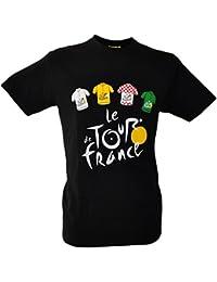 Tour de France Tdf-SA-3041 B T-Shirt Adulte Homme, Noir, FR : XL (Taille Fabricant : XL)
