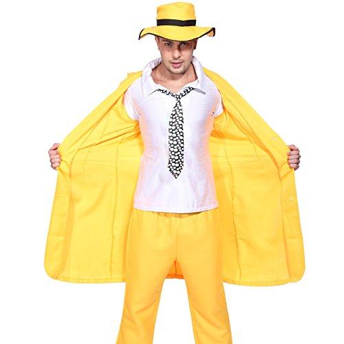 m Karneval Fasching Motto Party Halloween Herren Fancy Dress Gr.M (Gelbe Jacke Halloween-kostüm)