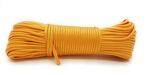 SWtools Paracord Outdoor-Seil 31 Meter (100 ft) Farbe: Orange Universal Survival-Seil aus Nylon Fallschirmschnur mit 7 Strängen -
