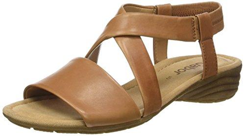 Gabor Shoes Damen Fashion Ankle Strap Sandalen, Beige (Cognac 24), 40.5 EU (Leder-ankle-strap Schuhe)