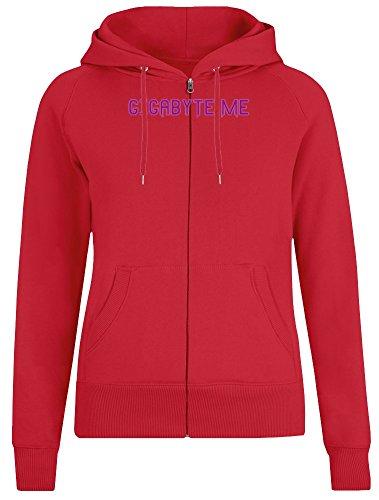 Gigabyte Me Zipper Hoodie for Women - 100% Soft Cotton - High Quality DTG Printing - Custom Printed Womens Clothing
