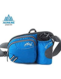 567a79adf906 Gray No Kettle   Aonijie Men Women Waist Bag Multi-Functional Outdoor  Pockets Travel Cycling Running Waterproof Nylon Money Belt…