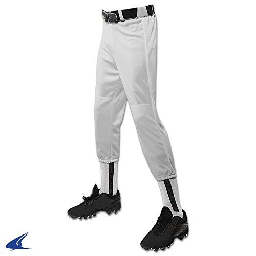 Champro Performance Pull-up Baseballhose mit Gürtelschlaufen für Jugendliche, Unisex, Kinder, grau, X-Large -