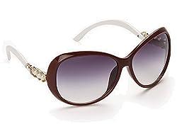 Olvin UV- Protected (OL300-02) Maroon Womens Oval Sunglasses GOOD STUFF WITH PREMIUM LOOKS