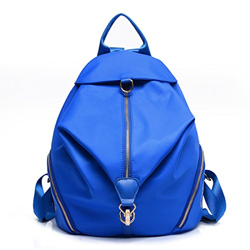 MYLL Zaino In Nylon Borse Scuola Daypack Resistente Allacqua Zaino Ideale Per Le Donne Ladies Girls College Gym Work Sports,Blue Blue