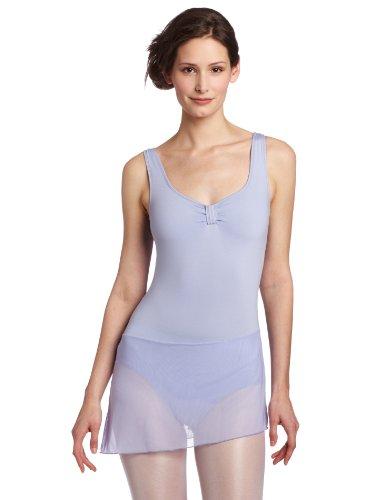 Danskin Women's Dance Dress with Mesh Skirt, Perris Lilac, Large -
