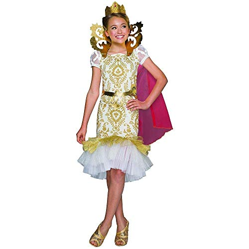RubieCostumes Ever After High Apple White Kinder Mädchen Fasching Halloween Karneval Kostüm Kleid + Krone (Small 104-116)