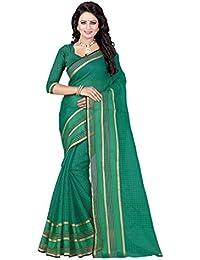 Sonal Trendz Green Color Poly Cotton Printed Saree.