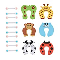 ‏‪Baby Safety Locks Kit 16pcs Child Proofing Cabinet Lock Child Protection Baby safety Door Stopper‬‏