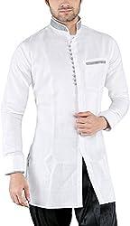 NEW LOOKS Men's Linen Kurta