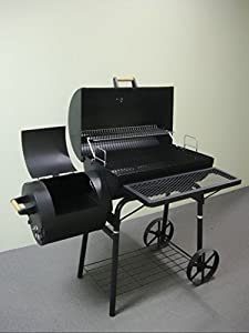32kg - KIUG® XL Smoker LAGUNA SECA / BBQ GRILLWAGEN Holzkohle Grill Grillkamin ca. 1,5 mm Stahl PROFI-QUALITÄT OGA032