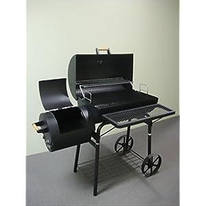 32kg - KIUG® XL Smoker BBQ GRILLWAGEN Holzkohle Grill Grillkamin ca. 1,5 mm Stahl
