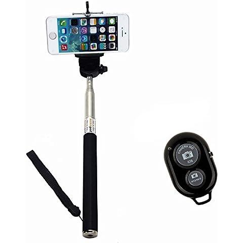 Pinpo Foto Selfie Mano para teléfono Ajustable soporte para el iPhone 5/5s 5C iPhone 6 Samsung Blackberry, Android, Smartphone - Negro