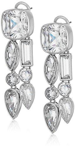nicole-miller-mixed-cushion-two-row-rhodium-clear-drop-earrings