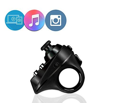 Multifunktionelle Bluetooth Controller Fernbedienung,JUMPFISCH Wireless VR Controller Fernbedienung Mini Gamepad für VR Brille, Samsung, iOS Android Smartphone, Tablet PC Laptop Rechner Musik Player Kamera TV, Andriod E-Book (Schwarz)