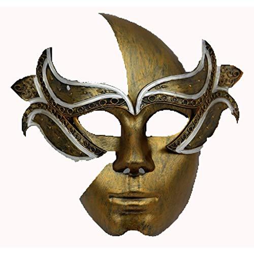 Maske Maske Maskerade Prinzessin Maske Männer und Frauen Modelle Männer Partei Spaß römische Maske Zwei Farben optional Kunststoff Bühne Maske Gesichtsmaske (Farbe : Gold)