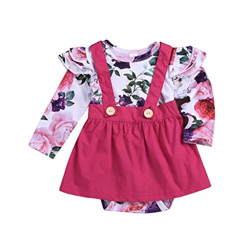 Fenverk 2Pcs Kleid Shirt Pullis Baby MäDchen Kleider Kleinkind Niedlich Kleidung Neugeborenen...