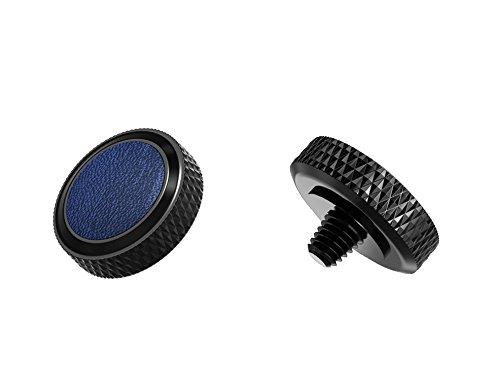 Ergonomischer Auslöser *Kupfer & Kunstleder* Auslöseknopf Soft Release Button für Fuji Fujifilm xt20 x 100f xt10 x-t2 x-pro2 x-pro1 X 100 X100s x100t x30 x 20 x10 x-e3 x-e2s (SRB-BK Blue)