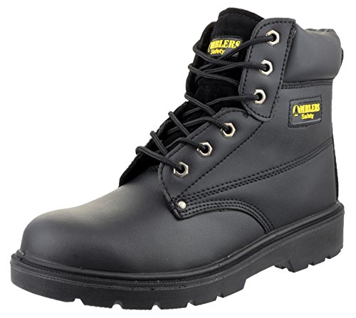 Amblers Safety Mens FS159 S3 Leather Safety Boots Black Noir - noir