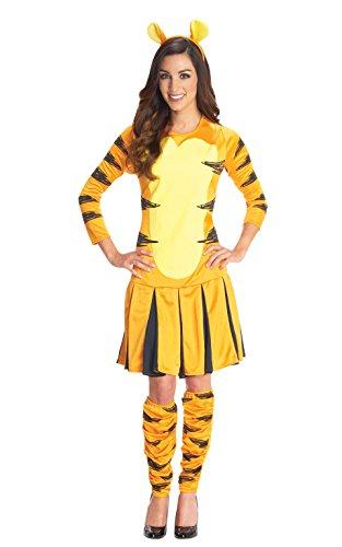 Damenkostüm Winnie Puuh, Modell Tigger, Cartoonfigur, Verkleidung Buchfigur Damen (Tigger Ohren)