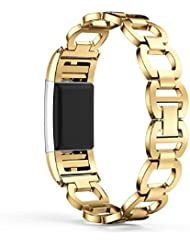Vovotrade ❤❤ Für Fitbit Charge 2 echtes Edelstahl Armband intelligentes Uhr Band Bügel für Fitbit Gebühr 2