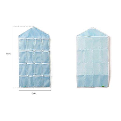 Time4Deal Armadio calzini biancheria intima Pouch 16 griglia Borsa di stoccaggio - Blu