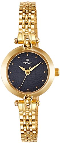 Titan Karishma Analog Black Dial Women's Watch -2521YM02