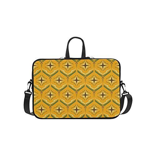 Abstrakte Ananas-Beschaffenheits-Aktenkoffer-Laptoptasche-Kurier-Schulter-Arbeitstasche Crossbody-Handtasche für das Geschäftsreisen