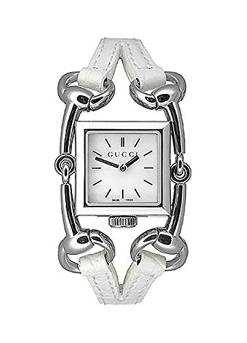 GUCCI Women's YA116504 Signoria White Leather Strap Watch