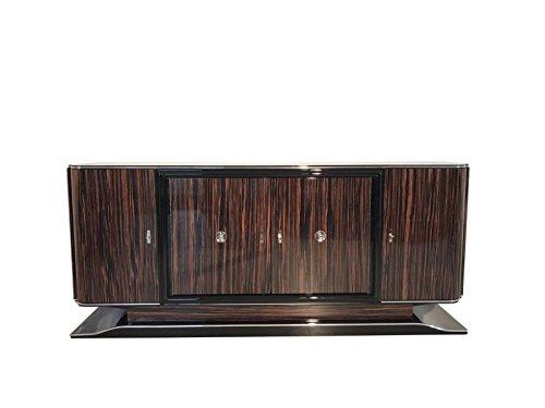 Art Deco Sideboard (OAM Art Deco Makassar Sideboard mit schwarzem Innenleben)