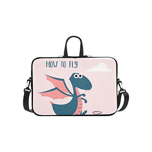 Awesome Retro Cute Dragon Design Tshirt Aktentasche Laptoptasche Messenger Schulter Arbeitstasche Crossbody Handtasche Für Geschäftsreisen