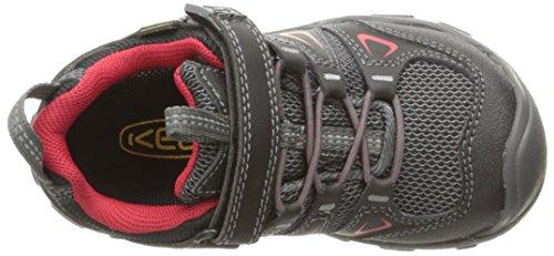 Keen Oakridge Low Wp, Chaussures de Randonnée Basses Mixte Enfant Noir (Black/tango Red)